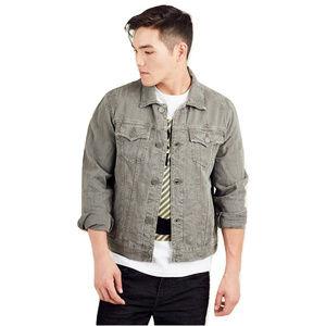 True Religion Men's Distressed Denim Jacket